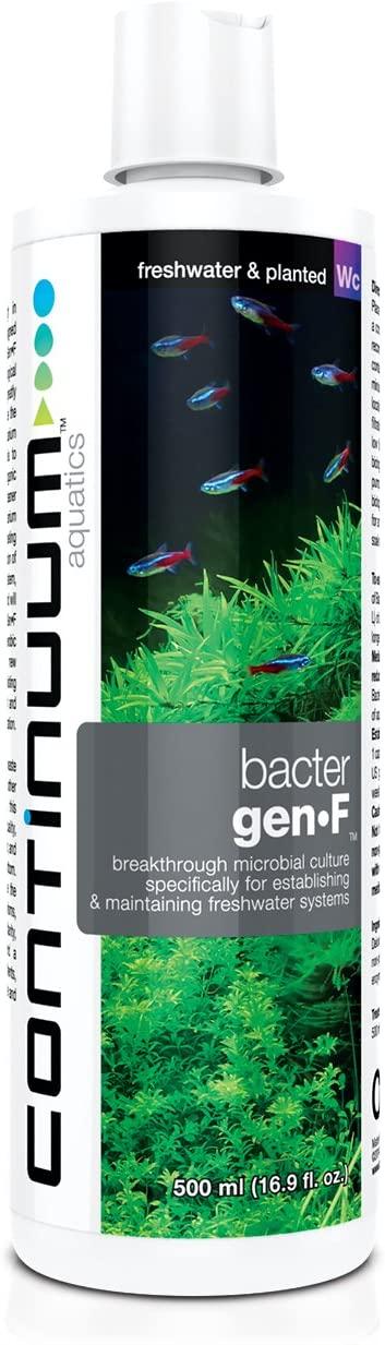 Continuum Aquatics Bacter Gen F - Water Conditioner to Establish Nitrifying Bacteria, Biological Filtration, in Freshwater Aquariums