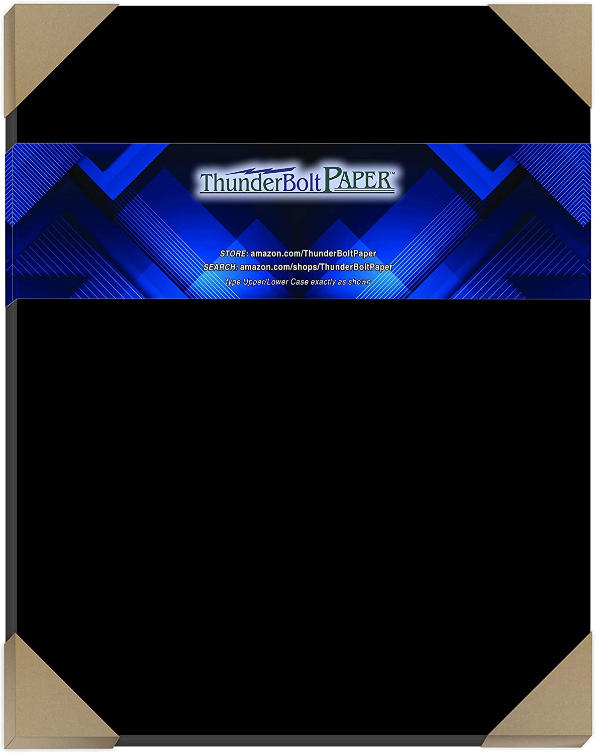 15 Dark Black Smooth Card Sheets - 100# (100 lb/Pound) - 11 X 14 Inches Scrapbook|Picture-Frame Size - Cover Weight Fine Paper for Quality Results on a Smooth Finish