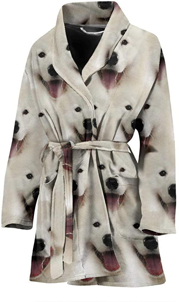 Samoyed Dog Print Women's Bath Robe