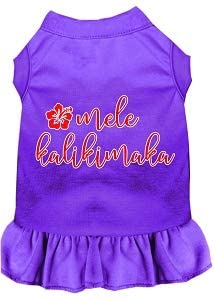 Mirage Pet Product Mele Kalikimaka Screen Print Dog Dress Purple XXL