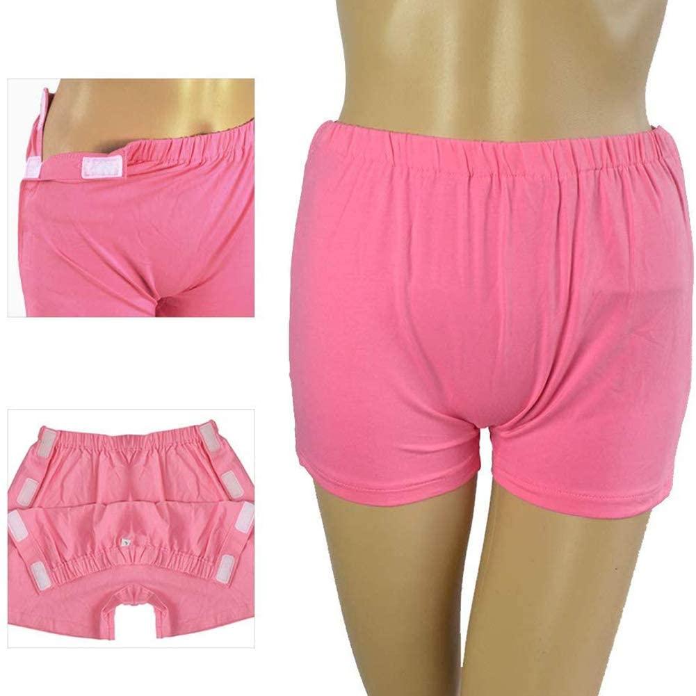 SHKY Women Patient Underwear, Reusable Incontinence Pant, Cotton Care Underwear Suitable for Fracture, Incontinence, Bedridden Patients/Elderly,XL