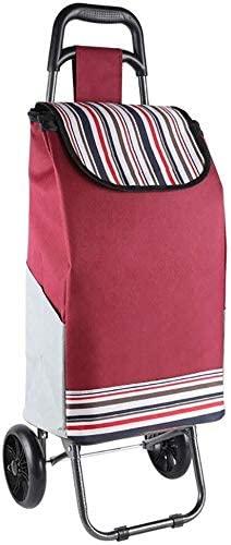 JN Shopping Trolley Bag Shopping Cart Folding Trolley Shopping Outdoor Travel Folding Trolley (Color : B)