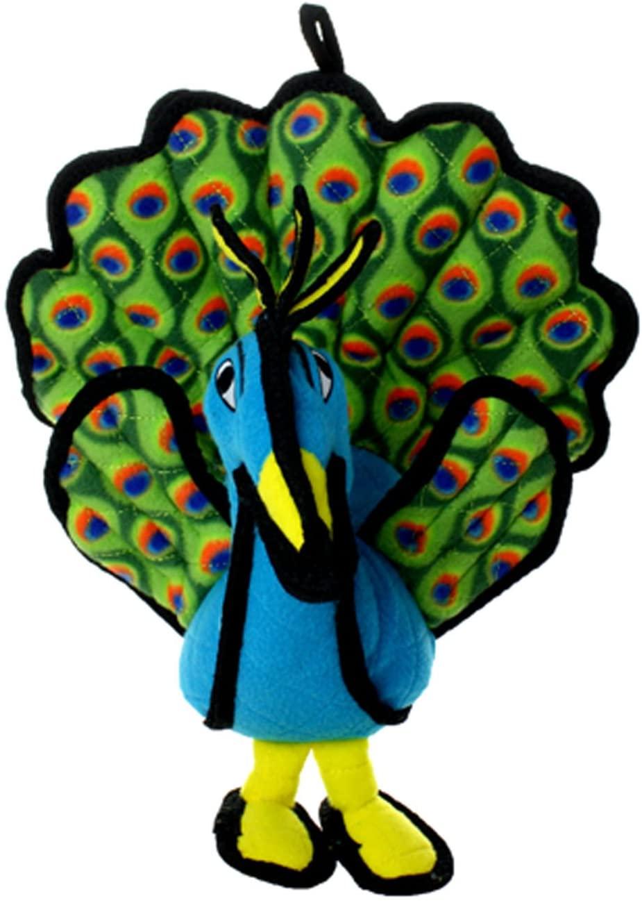 TUFFY Zoo Animal Peacock, Durable Dog Toy, Large