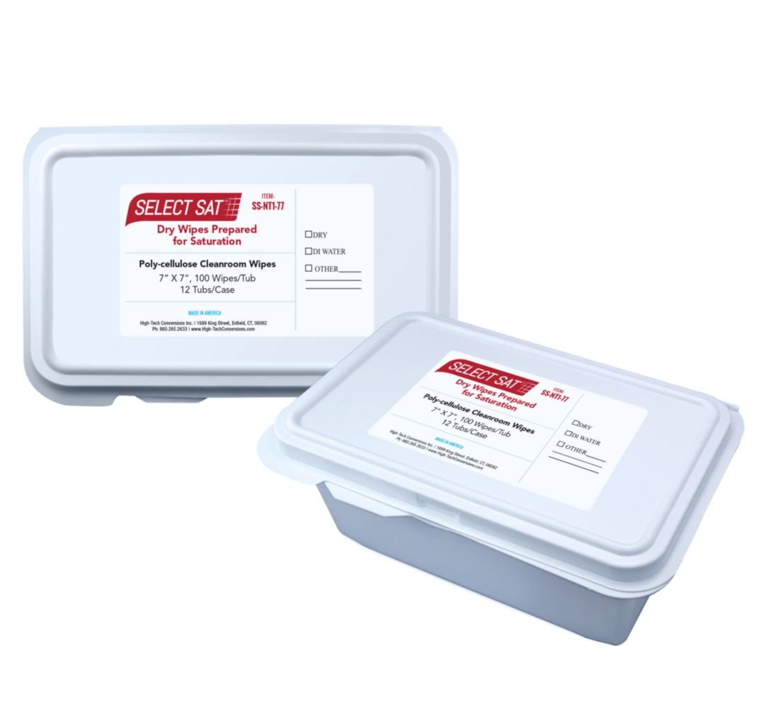 High-Tech Conversions SS-NT1-77 Polyester/Cellulose ISO Class 5 Dry Wipe, 7 Length, 7 Width (Pack of 1200)