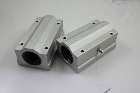 Ochoos New 2 pcs SCS10LUU SC10LUU Linear Guide Bushing,Linear Guide Slide Bearing