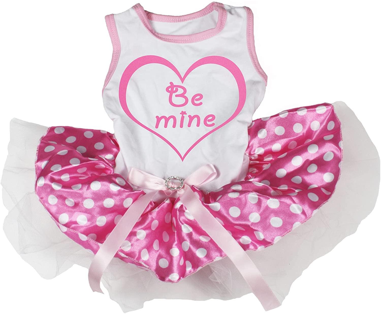Petitebella Be Mine Heart Puppy Dog Dress