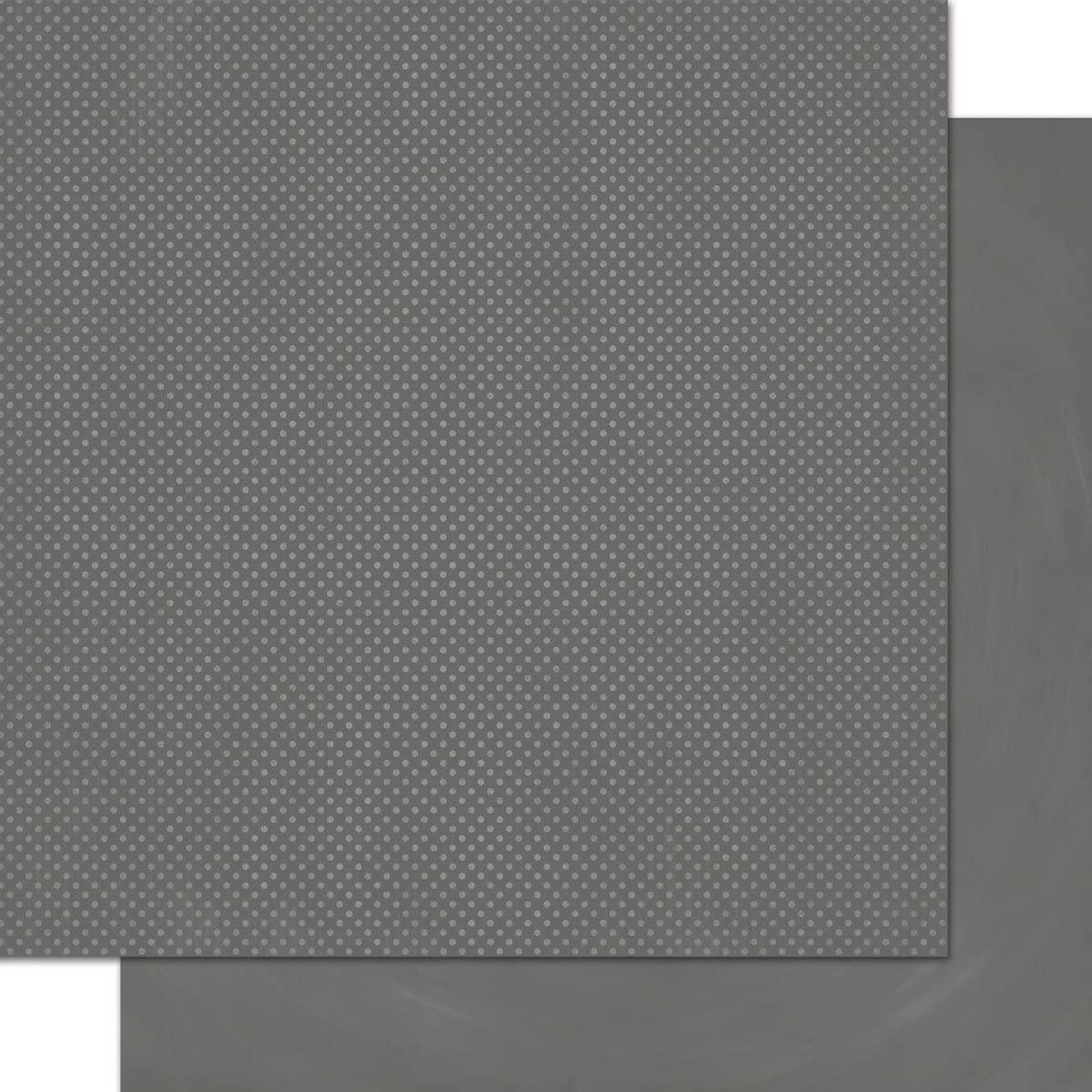 Bo Bunny Double Dot Paper 12x12 Charcoal