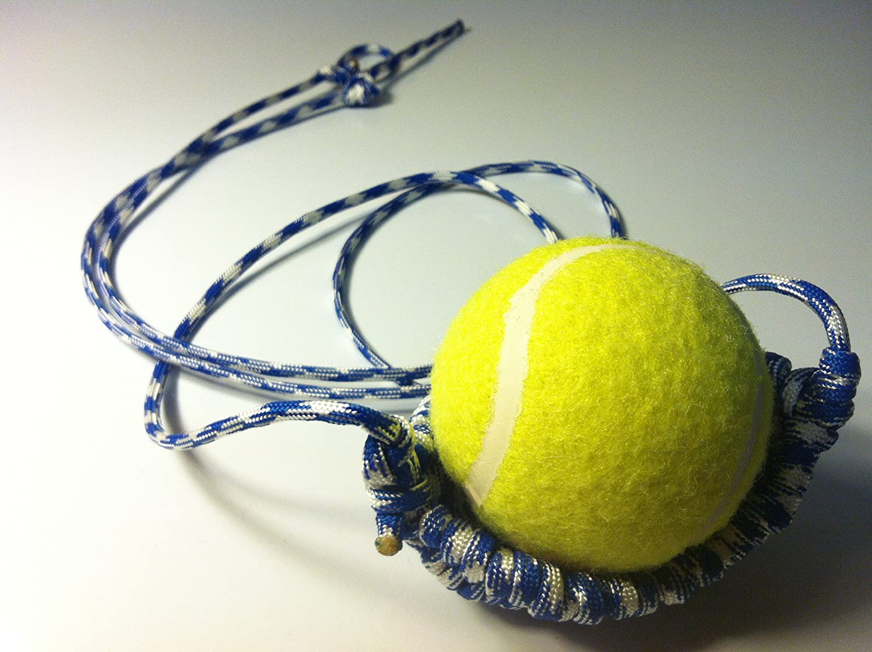 David the Shepherd Tennis Ball Thrower - Paracord Shepherd Sling (Royal Mountain) Handmade