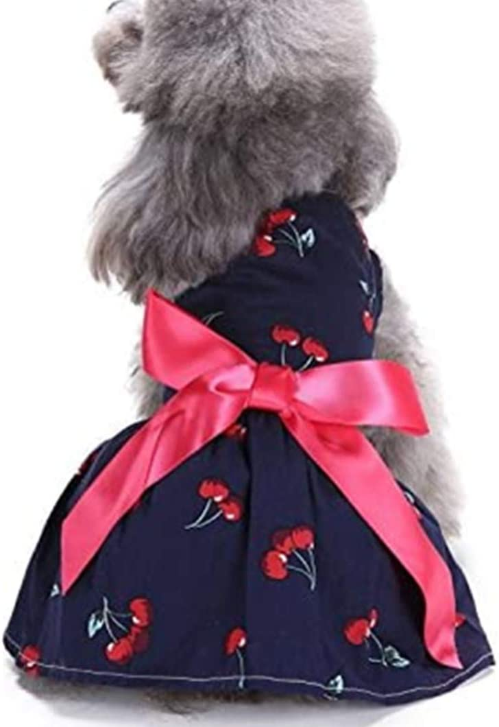 XiangYue SISAVE Puppy Dogs Cats Dresses Pet Cute Dress Clothes