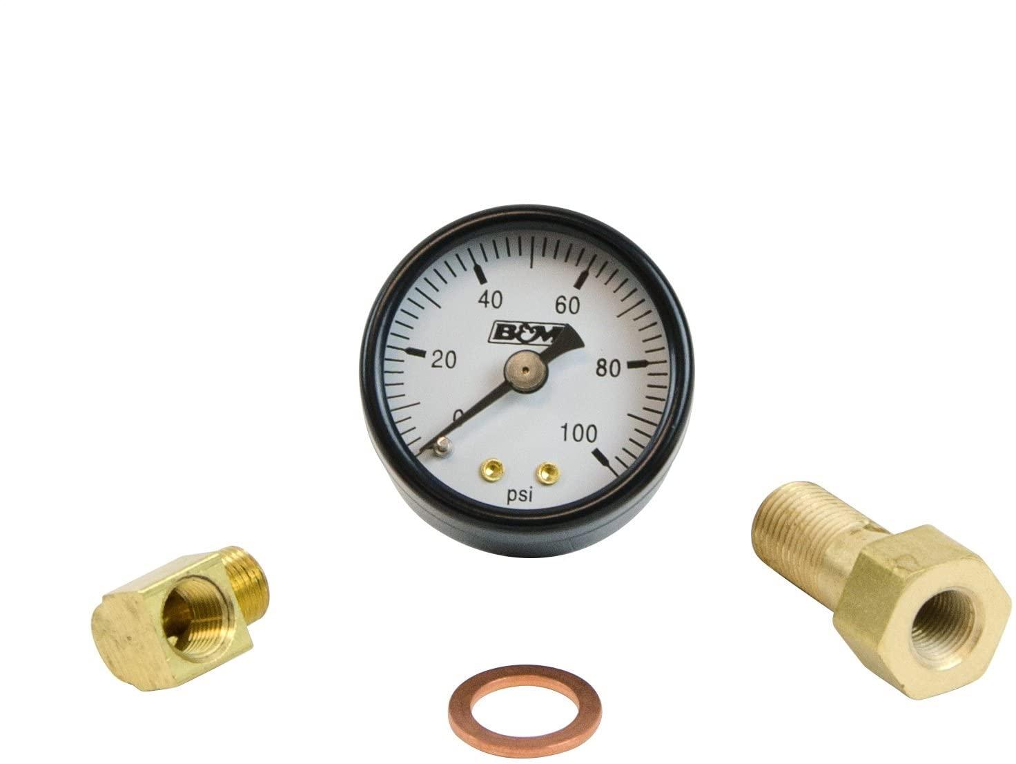 B&M 46054 Fuel Pressure Gauge Set