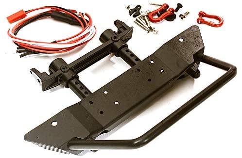 Integy RC Model Hop-ups OBM-020 Realistic Front Metal Bumper w/ 40mm Mount for Axial SCX10 II & Traxxas TRX-4