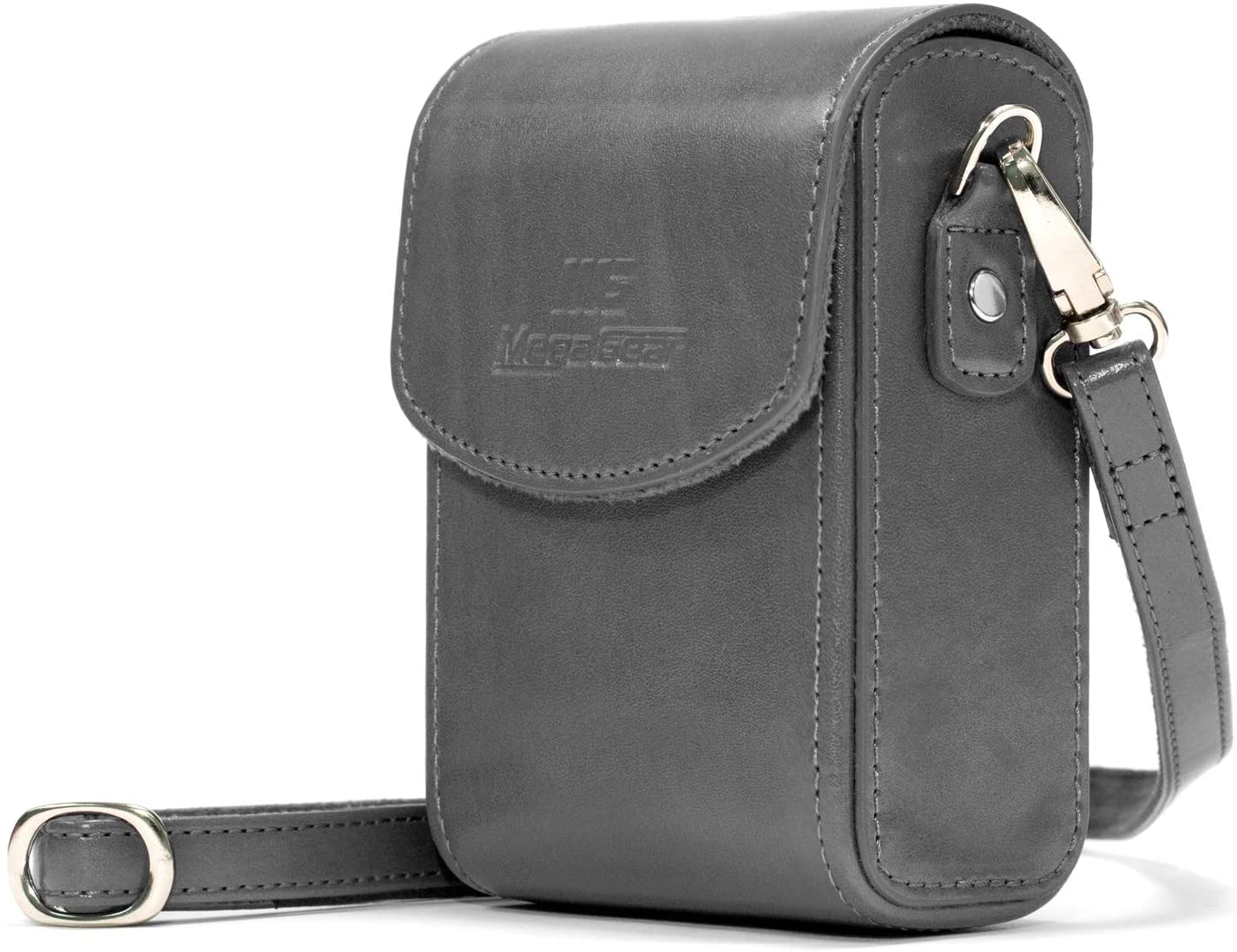 MegaGear Leather Camera Case with Strap Compatible with Nikon Coolpix A1000, A900
