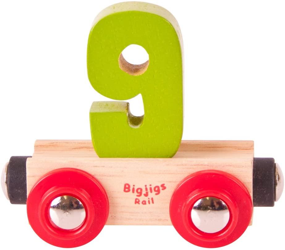 Bigjigs Rail Rail Name Number 9 (Colors Vary)