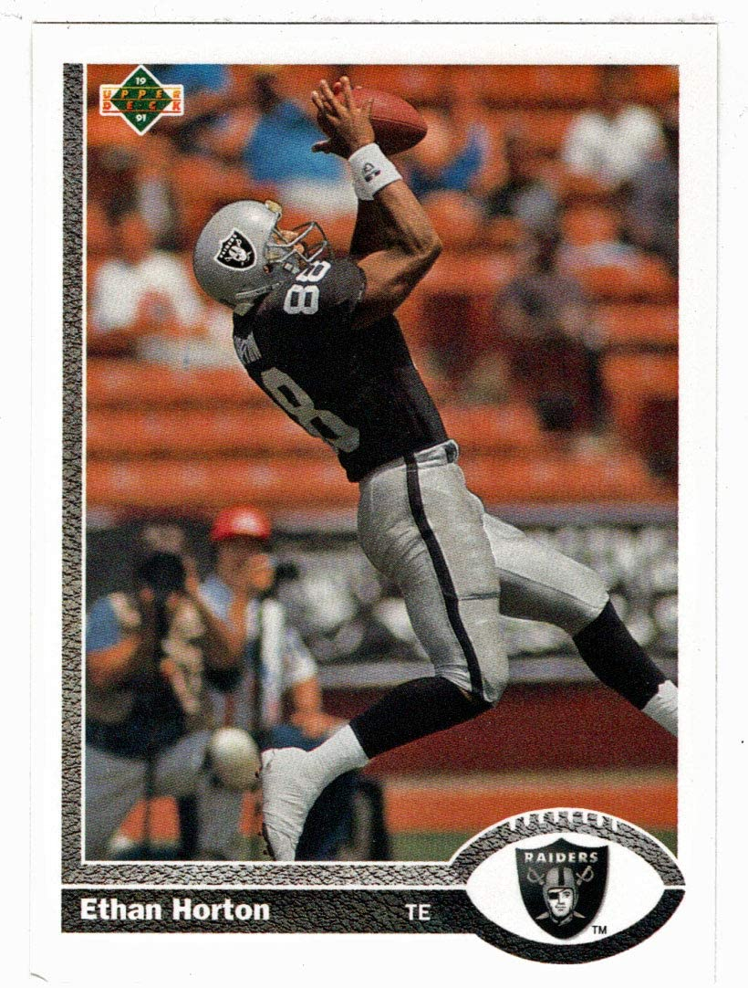 Ethan Horton - Los Angeles Raiders (Football Card) 1991 Upper Deck # 582 Mint