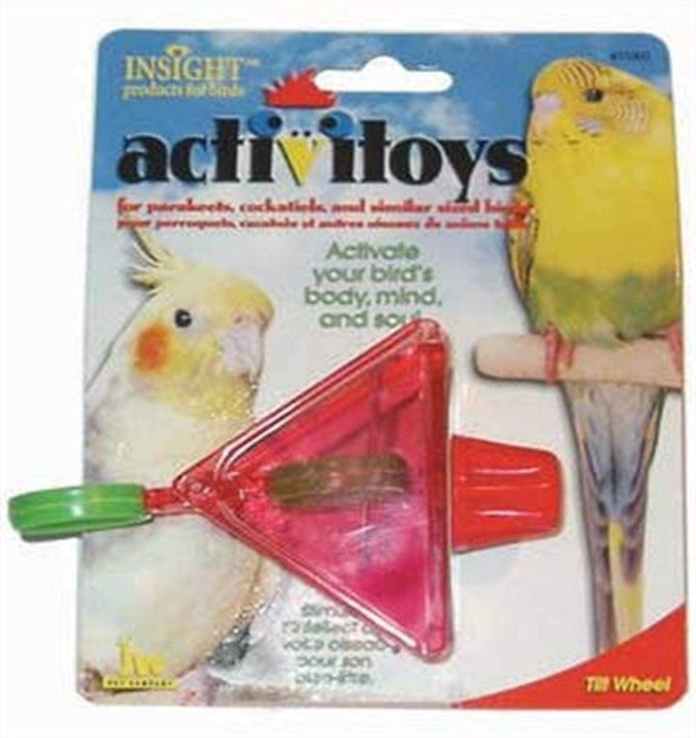 JW Pet Company Activitoy Tilt Wheel Small Bird Toy, Colors Vary
