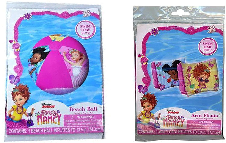 Disney Junior Fancy Nancy Beach Ball & Arm Floats Pool Swimming Girls Set