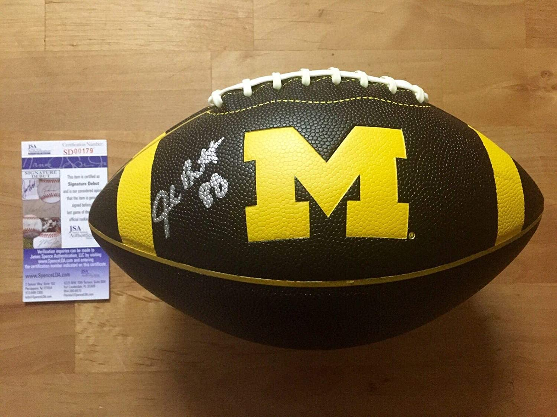 Jake Butt Signed Michigan Wolverines Black Football Coa - JSA Certified - Autographed College Footballs