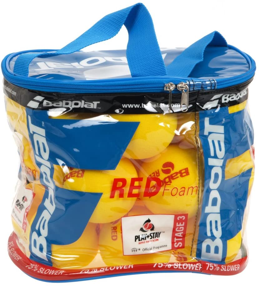 BABOLAT Unisex's Foam X24 Ball Basket, Yellow/Red, One Size