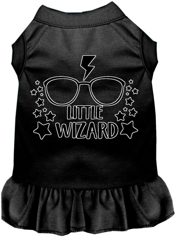 Mirage Pet Product Little Wizard Screen Print Dog Dress Black Lg (14)