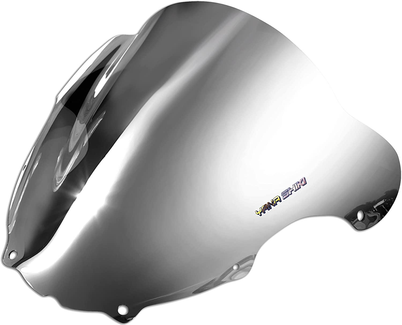 Yana Shiki KW-4002CSI R Series Chrome Silver Windscreen for Kawasaki ZX-636
