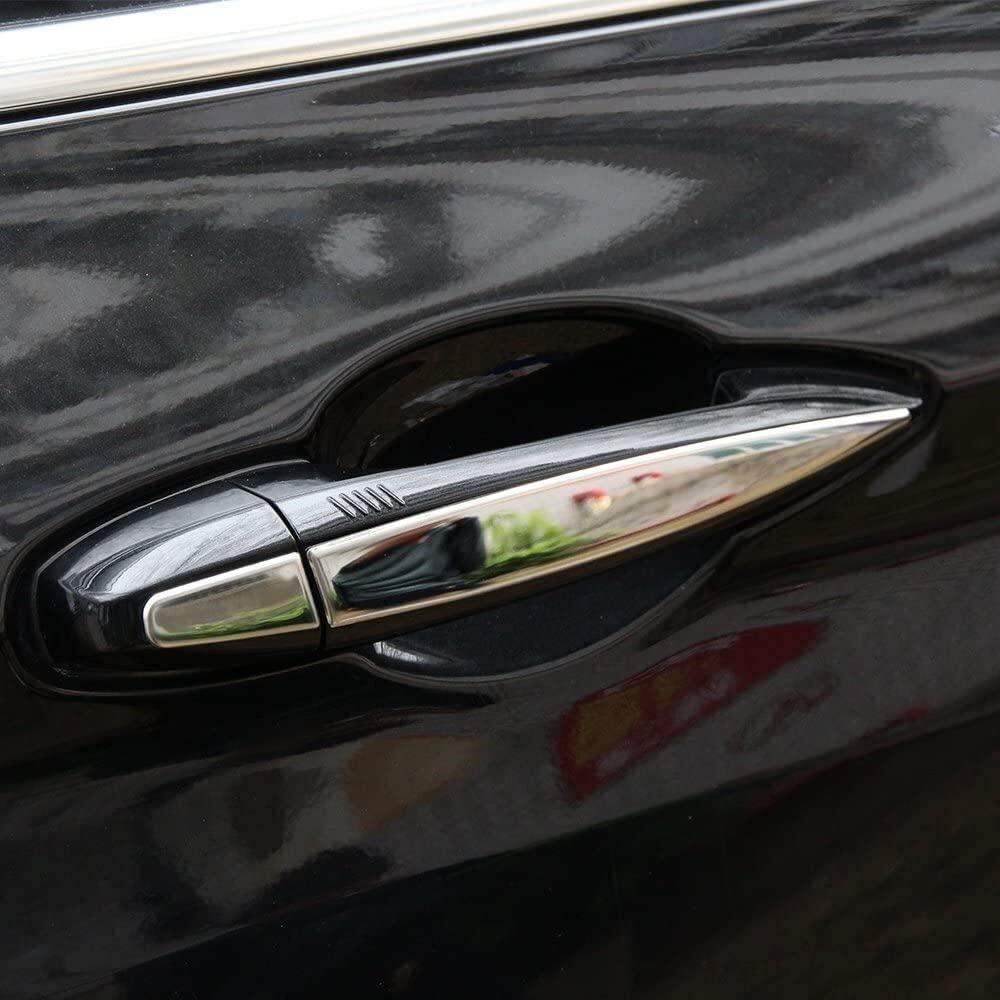 Onlogo Apply to 8 Stainless Steel Chrome Door Handle Trim X5 F15 2014 □ 2017 Auto Accessories