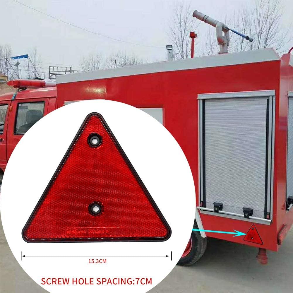 FairOnly Car Rear Red Reflector Triangle Reflector for Will-iams Trailer Caravan Car Parts