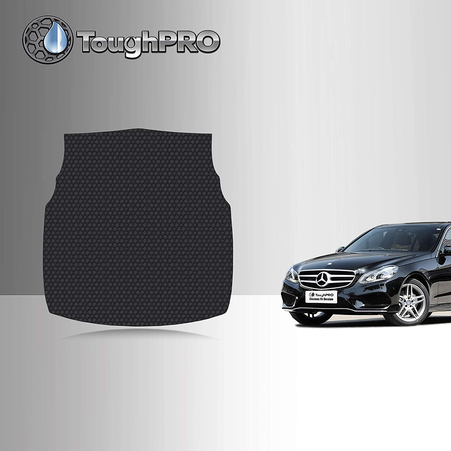 TOUGHPRO Cargo/Trunk Mat Accessories Compatible with Mercedes-Benz E300 / E350 - All Weather - Heavy Duty - (Made in USA) - Black Rubber - 2010, 2011, 2012, 2013, 2014, 2015, 2016