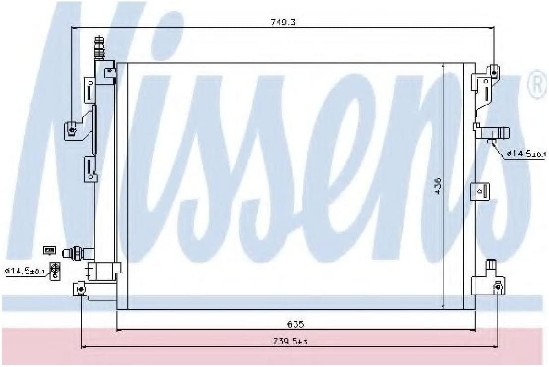 Nissens 940089 Condenser, air conditioning