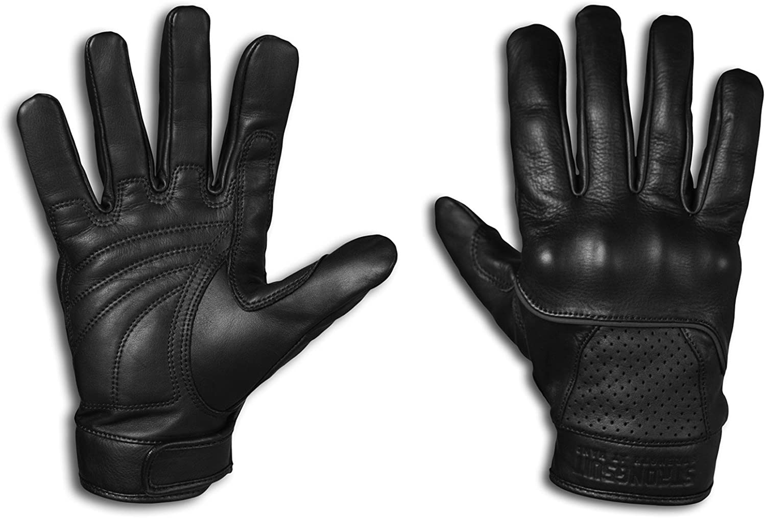 StrongSuit 20300-S Voyager Leather Motorcycle Gloves, Small