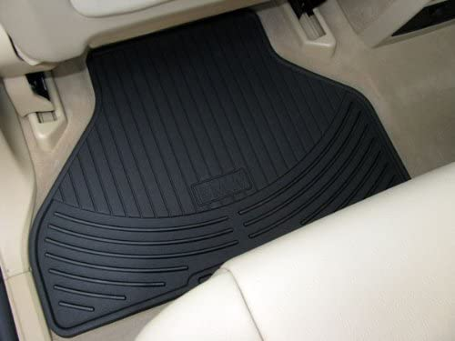 BMW All Weather Rear Rubber Floor Mats 525 528 530 535 545 550 M5 (2004-2010) - Black