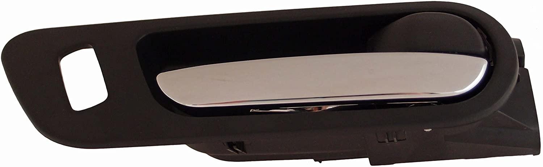 Dorman 93863 Front Passenger Side Interior Door Handle for Select Mazda Models, Black and Chrome
