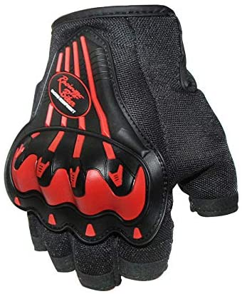 AKDSteel Cycling Half Finger Gloves Bicycle Riding Hand Protection Mitten red XL