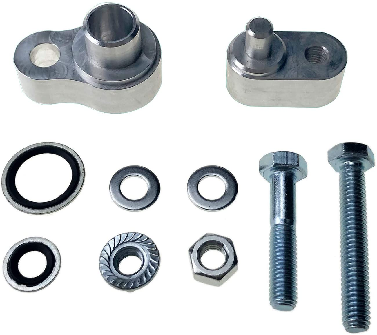 LucaSng Air Conditioning Block Off Fittings A/C Block Off Rear Premium Kit Compatible with Rear Air 2007-2015 GMC Acadia w/Dual Bolts
