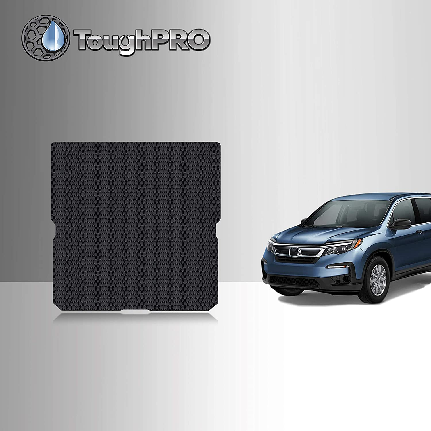 TOUGHPRO Cargo/Trunk Mat Accessories Compatible with Honda Pilot - All Weather - Heavy Duty - (Made in USA) - Black Rubber - 2016, 2017, 2018, 2019, 2020