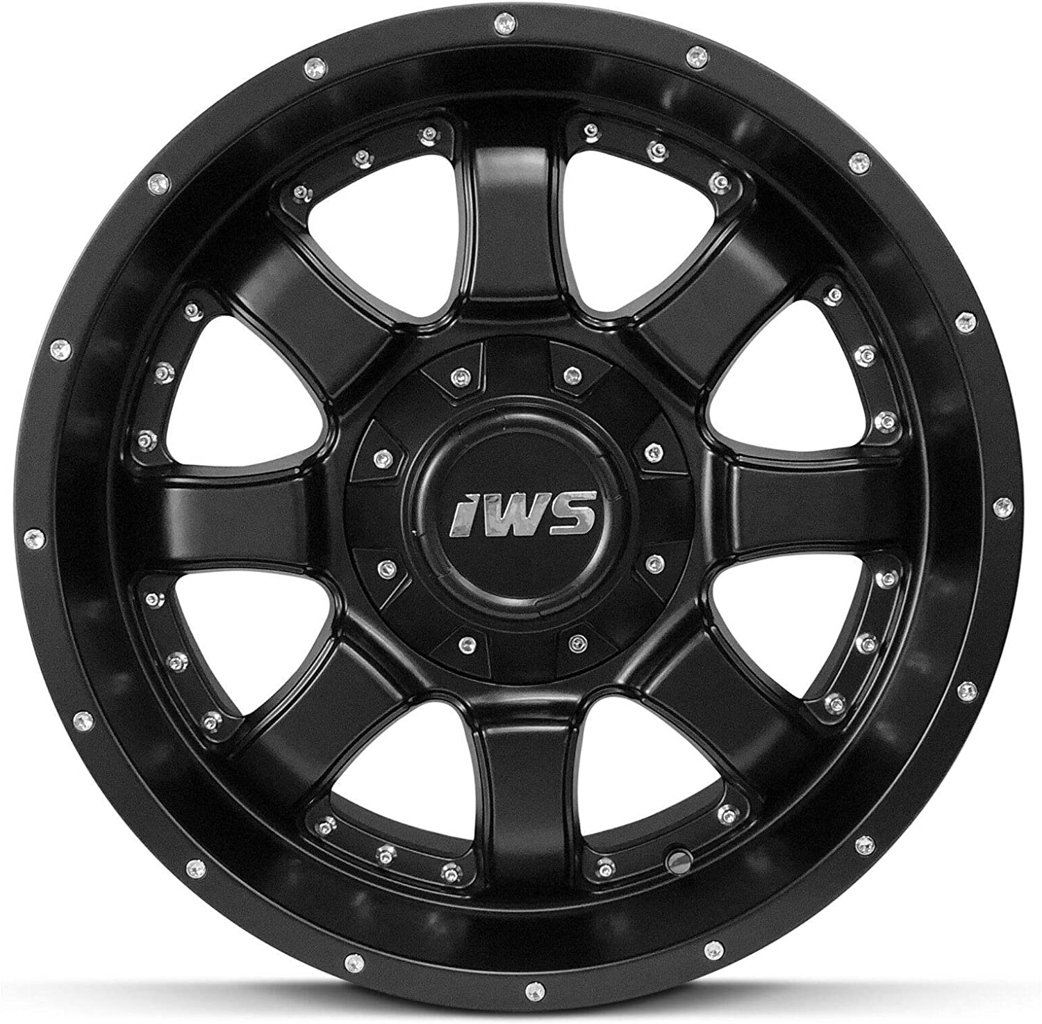 Bill Smith Auto Replacement For 17X9 Inch Matte Black Wheel Rim 6x5.5 Fits Ford Chevy GMC 6x139.7 6x135-12mm