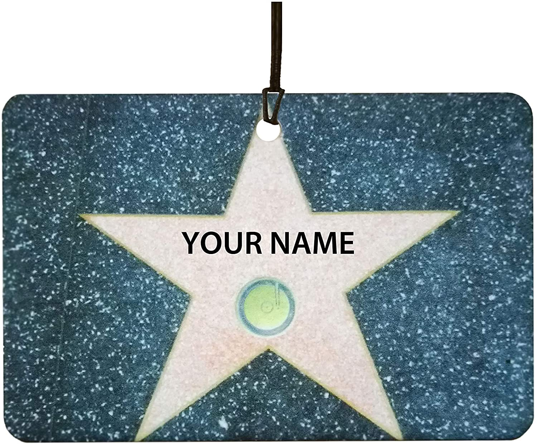 Custom Hollywood Walk of Fame Car Air Freshener - Music Category