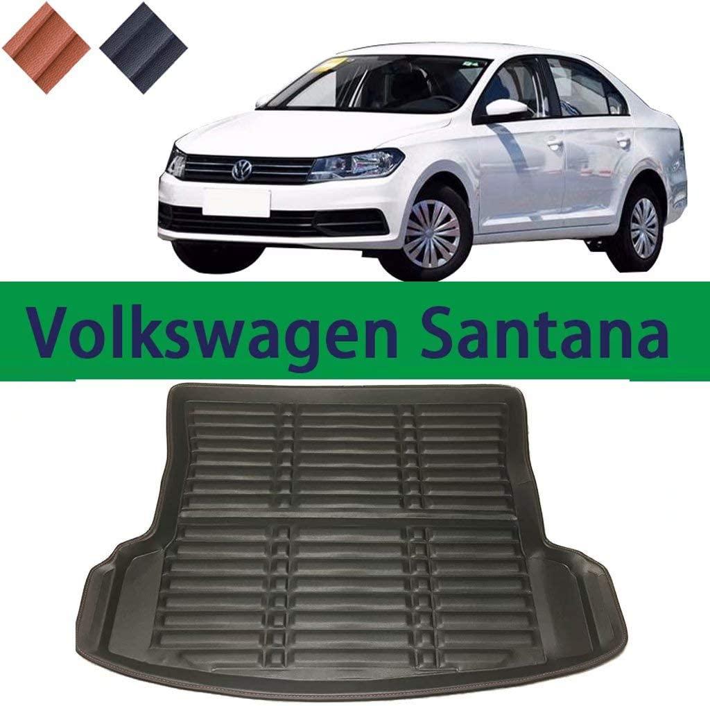QCHD Car Trunk mat,for SAIC Volkswagen Santana Car Boot mat 2013-2019 TPO Rear Trunk Liner Cargo Cover Mat,Black