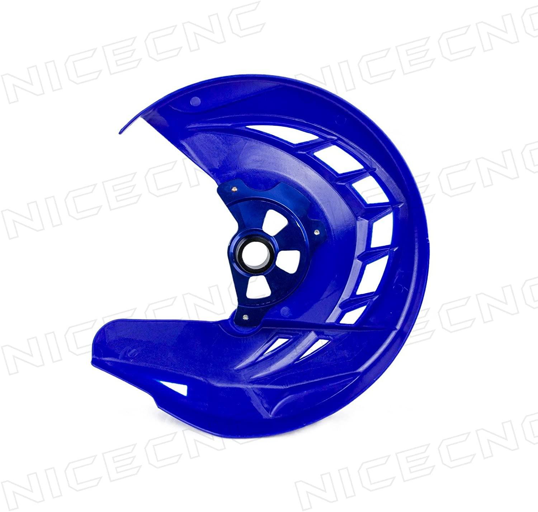 NICECNC Blue X-Brake Front Disc Rotor Guard Cover Replace Yamaha YZ250F YZ450F 2014-2018 YZ250FX 2015-2018 YZ450FX 2016 2017 2018