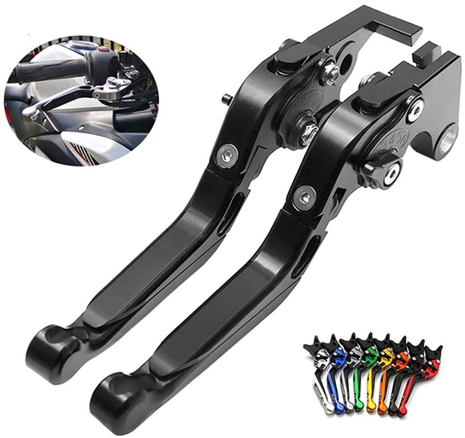 YAOkxin Clutch Lever, 1 Pair Adjustment Folding CNC Short Brake Clutch Levers Compatible for Yamaha PCX125 PCX150,Black