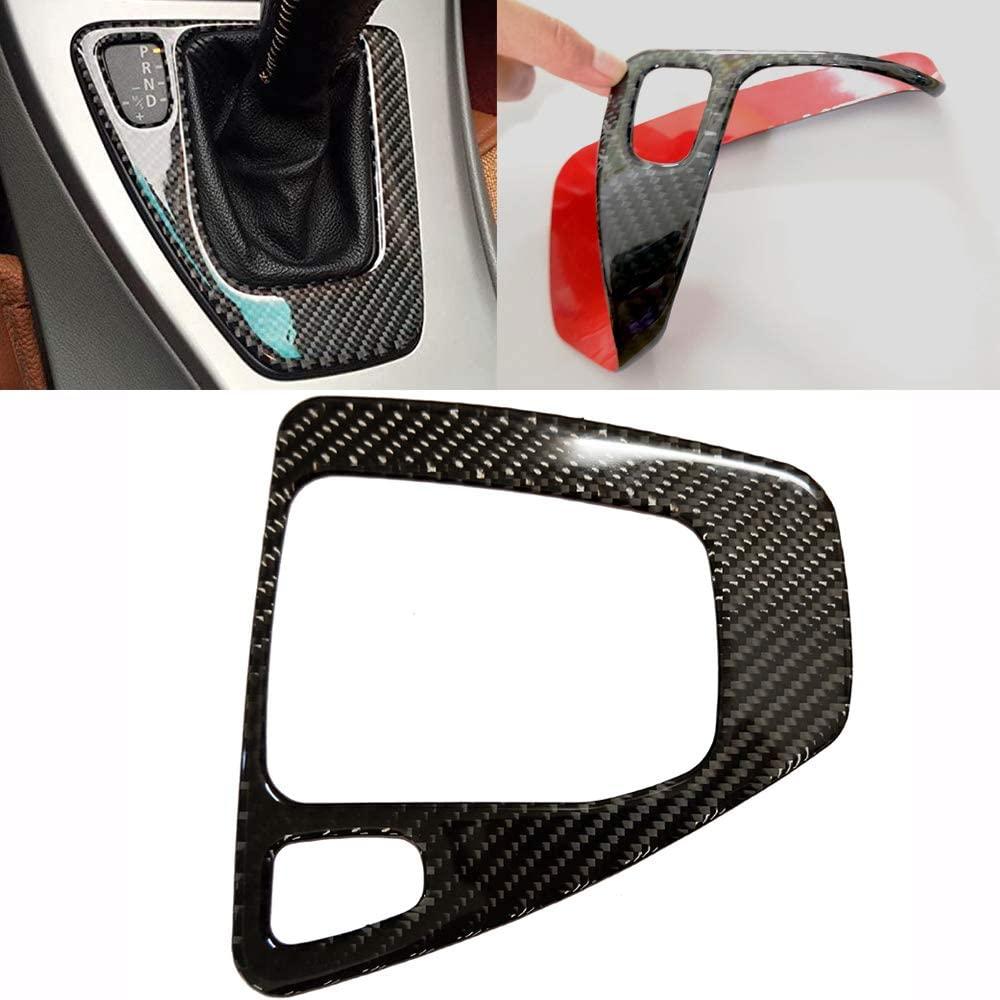 GDR Soft Carbon Fiber Car Control Gear Box Shift Knob Panel Frame Cover Sticker Interior Trim Replacement for BMW E90 E92 E93 3 Series 2005-2012 318i 320i 325i 330i 335i