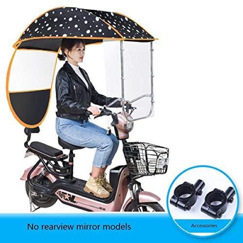 GFYWZZ Universal Motorcycle Rain Cover, Electric Vehicle Umbrella Raincoat Poncho Cover, Scooter Rider Sun Shade & Rain Waterproof Cover