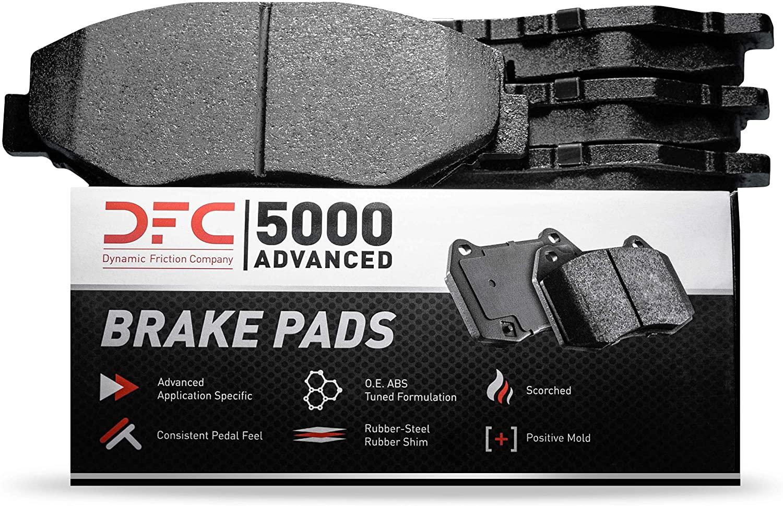 Rear Set Dynamic Friction Company 5000 Advanced Brake Pads 1552-1020-00