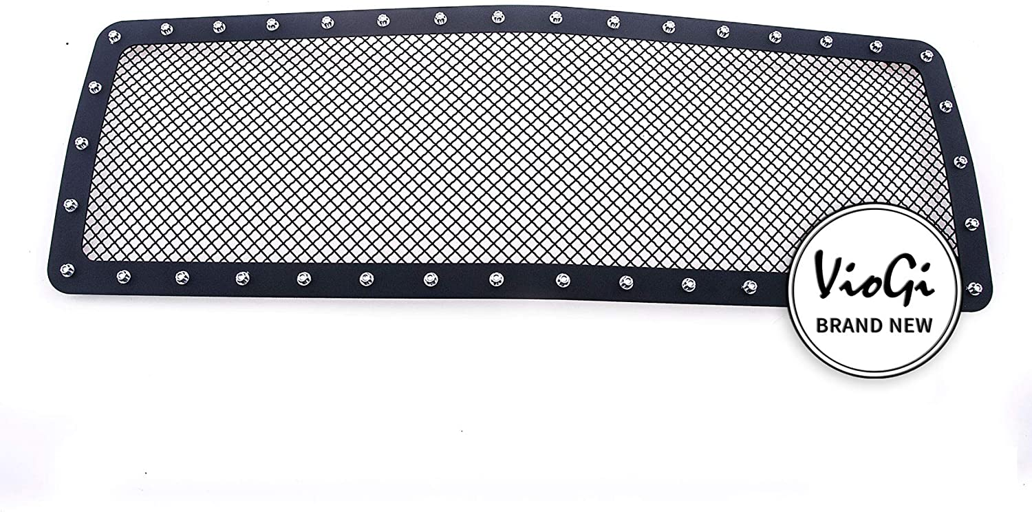 Junonne 1pc Replacement Upper Blk Billet Grille Compatible with 88-93 GMC Pickup Sierra Jimmy Truck