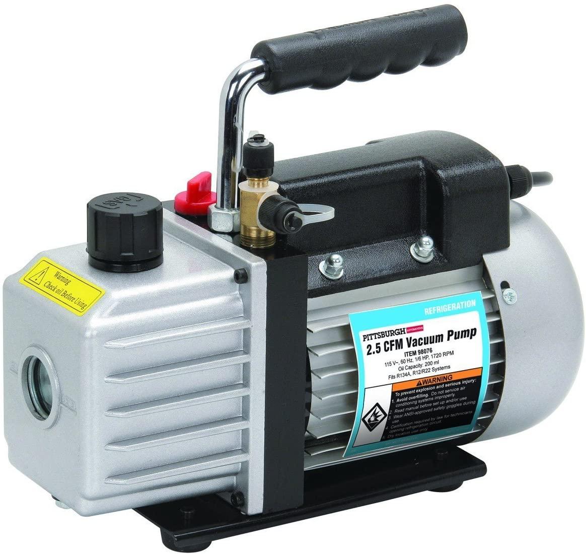 2.5 CFM 1/6 HP One Stage Vacuum Pump Air Conditioning HVAC