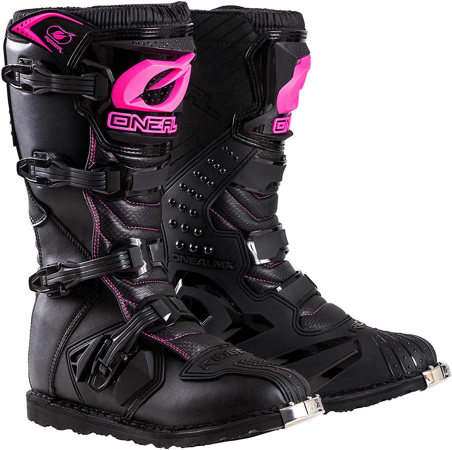 O'Neal 0325-705 Womens New Logo Rider Boot (Black/Pink, Size 5)