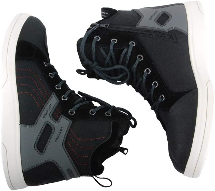 1Storm Men's Motorcycle Streetbike Casual Water-Proof Racing Boots Gray US 9.5
