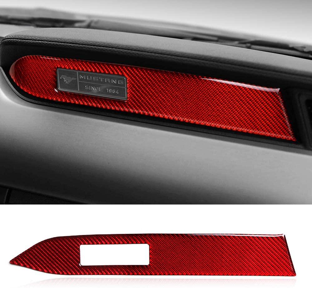 GZXinWei Red Car Interior Decoration Carbon Fiber Strips Instrument Panel Car Sticker