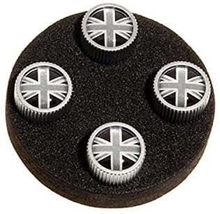 Land Rover Genuine Tyre Valve Cover Grey & Black Union Jack Design Set of 4 Part: LR027666