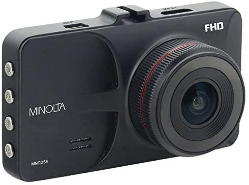 Minolta MNCD53 Car Dashboard 1080p HD Video Camera with LCD Screen and G-Sensor (Black)
