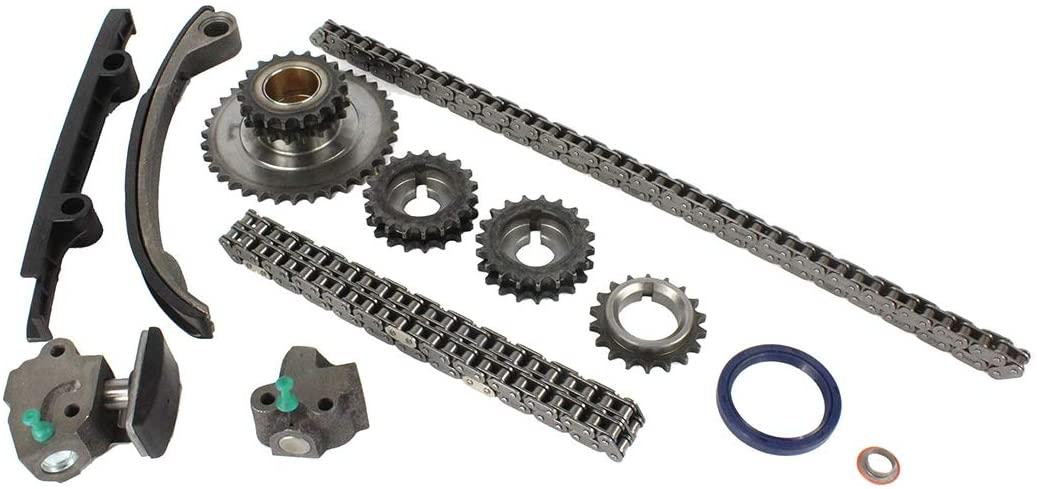 DNJ TK624 Timing Chain Kit for 1993-1997 / Nissan/Altima / 2.4L / DOHC / L4 / 16V / 2389cc / KA24DE